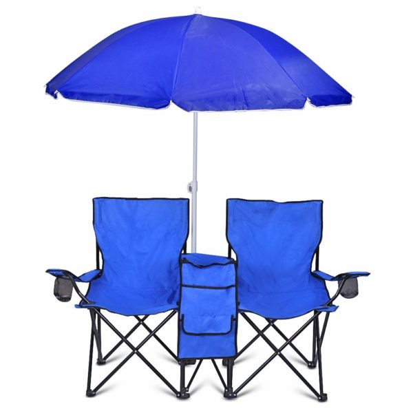 Şemsiyeli İkili Plaj Sandalyesi