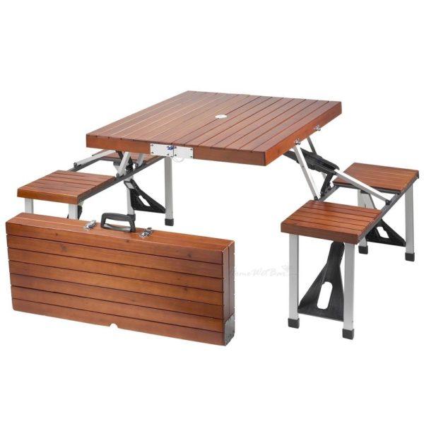 Katlanabilir Ahşap Piknik Masası